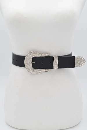 Swirl Metal Buckle Belt
