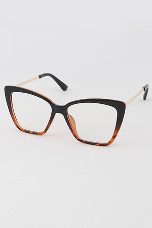 Angled Cat Eye Blue Light Block Glasses