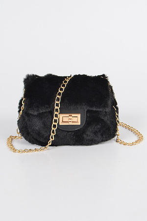 Faux Fur Mini Bag.