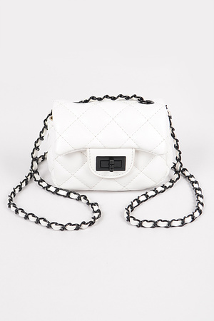 BK Chain Quilted Mini Bag