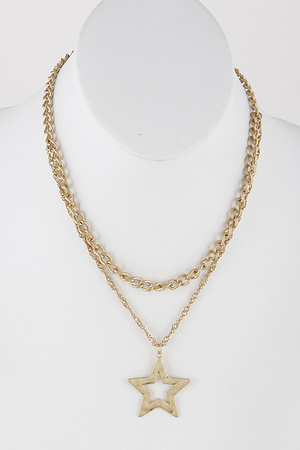 Chainlink Star Necklace 9DBC6