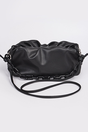 Shoulder Strap Leather Clutch.