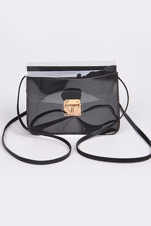 Visible Shoulder Strap Clutch.