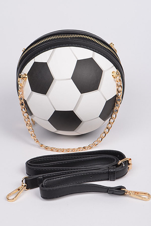 Shoulder Chain Strap Soccer Ball Style Clutch.