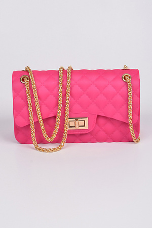 Jelly Classic Quilted shape Clutch.
