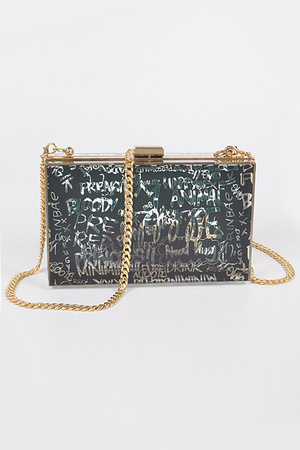 Graffiti Transparent Case Bag
