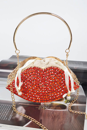 Bling Lip Cage Clutch