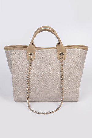 Simple Daily Shoulder Strap Tote Bag