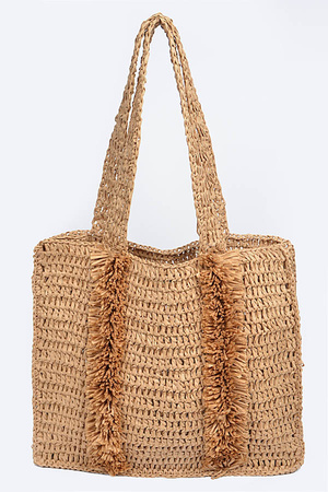 Summer Straw Tote Bag