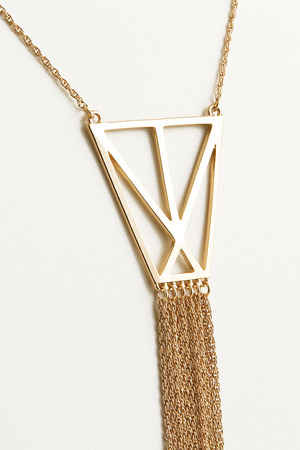 Long Fringe Necklace 4DBF6