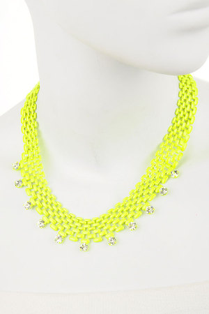 Radiating neon chain necklace-dda2