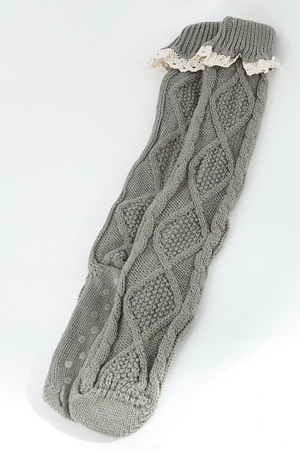 Soft Fold Over Lace Knee Socks 5JAL