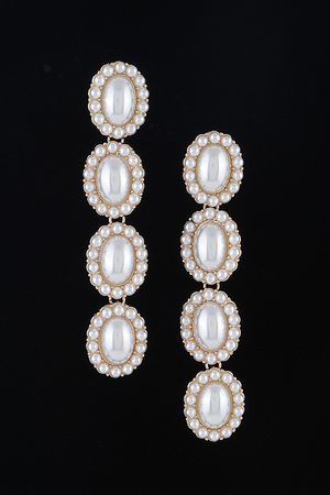 Linked Pearl Drop Earrings