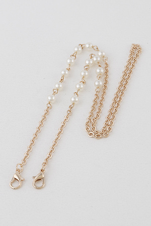 Pearl Beads Mask Chain