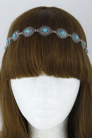 Antique Inspired Diamond Stone Head Band 6HCD8