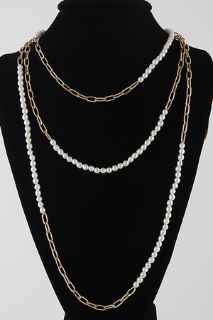 Chain Layered with Beads Strand Necklace