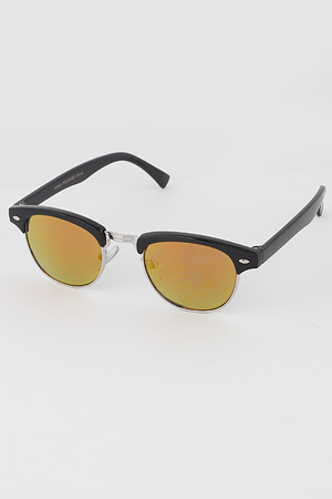 KIDS Retro Mirrored Half Frame Sunglasses