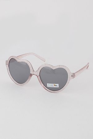 KIDS Glitter Heart Sunglasses