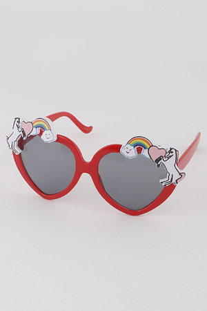 KIDS Unicorn Heart Sunglasses