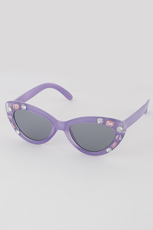 KIDS Jeweled Frame Sunglasses