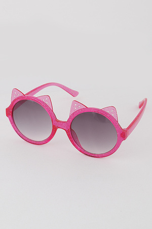 KIDS Glittered Cat Sunglasses