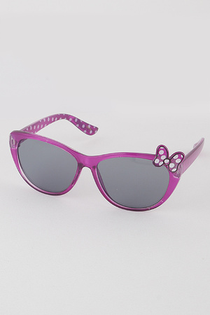 KIDS Ribbon Cat Eye Sunglasses