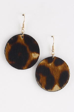 Jungle Round Earrings 8ICA10
