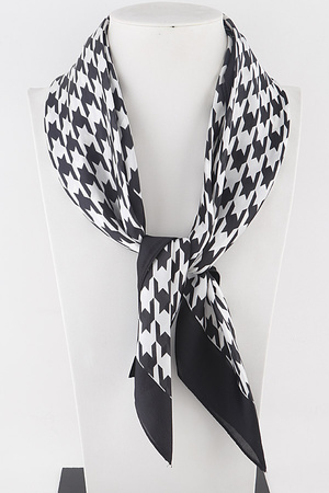 Plaid Dot Printed Scarf