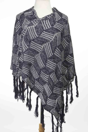 Tassel Detailed Winter Poncho 4IAI
