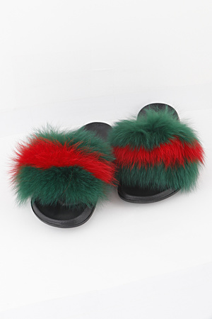 Fox Fur Slippers 10PCS/PACK