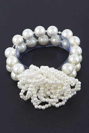 Solid Pearl Beaded Bracelet 8ICA6