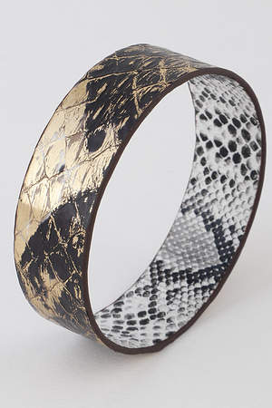 Faded Snakeskin Bangle Bracelet