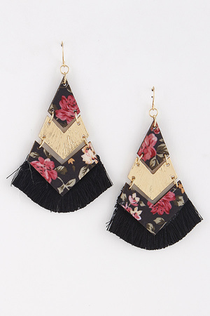 Pyramid Aztec Style Earrings 8ICB5