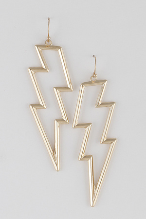 Thunder Bolt Frame Earrings