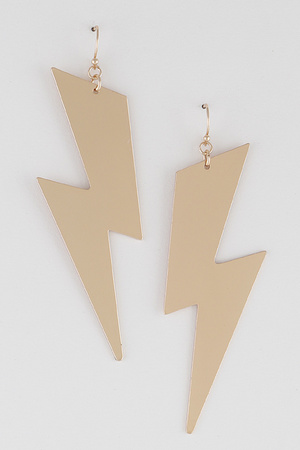 Lightning Metal Earring