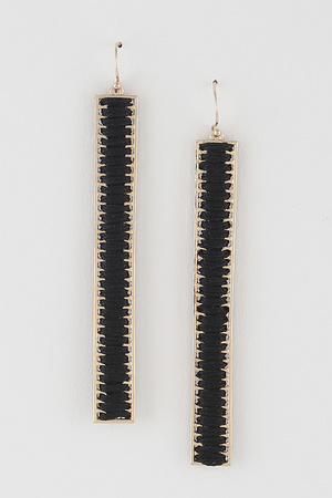 Thread Bar Earrings