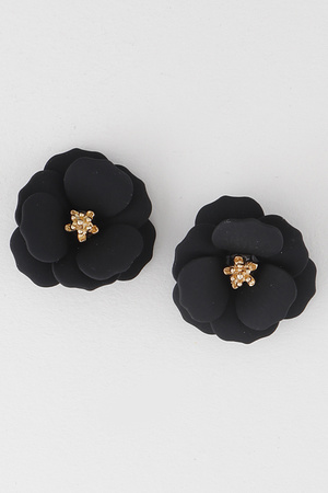 Fine Flower Stud Earrings