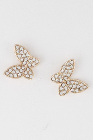 Rhinestone Butterfly Earrings