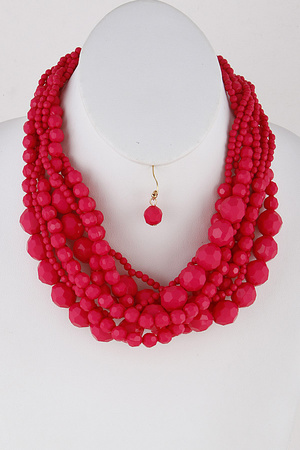 Multi Sized Bead Necklace 9EBE2