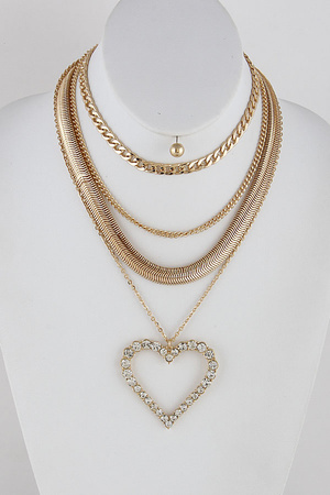 Heart Layered Necklace 9IBD2