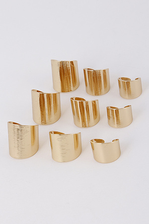 Metallic Thick Plain Ring Set 8ABA2