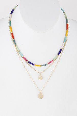 e1614dcdd858 Beaded Gemstone Necklace 9DBA5