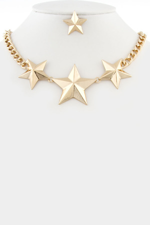 Shiny stars necklace_3KBC17