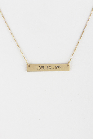 Love is Love Written Necklace 8JBA2