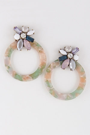 Lovely Stones Hoop Earrings 8EBA9