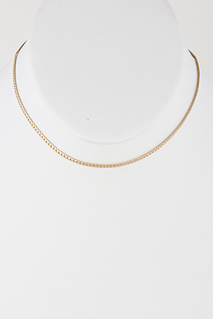 Simple Round Choker Necklace 7EBB3