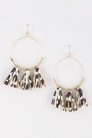 Hoop Earrings With Tassel Attachment 8ICA3