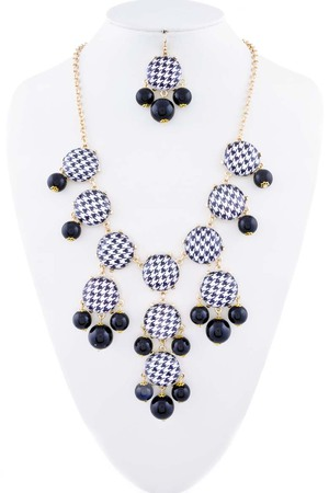 Statement checkered necklace 3LBH2
