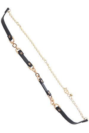 Buckle Strap Linked Chain Belt