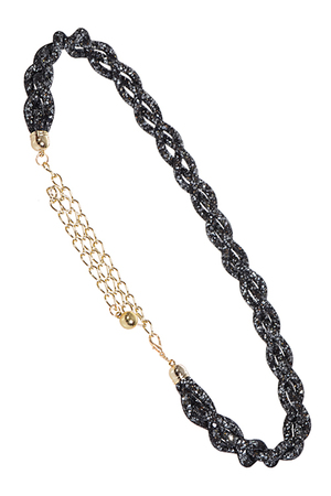 Glittery Wire Twisted Chain Belt